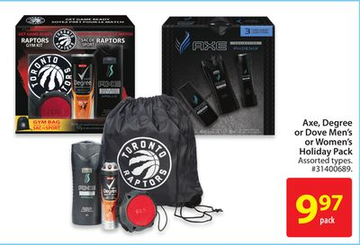 Axe - Degree or Dove Men's or Women's Holiday Pack
