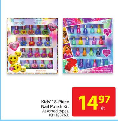 Kids' 18-piece Bail Polish Kit
