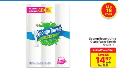 Sponge Towels Ultra Giant Paper Towels