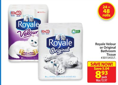 Royale Velour or Original Bathroom Tissue