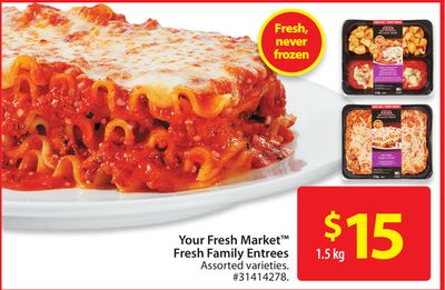 Your Fresh Market Fresh Family Entrees