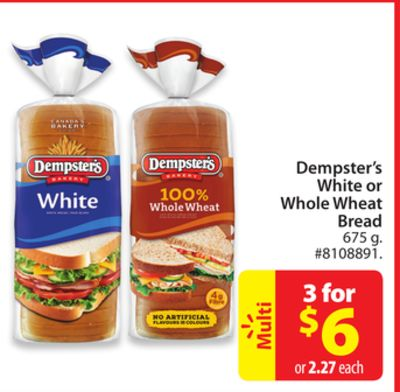 Dempster's White or Whole Wheat Bread
