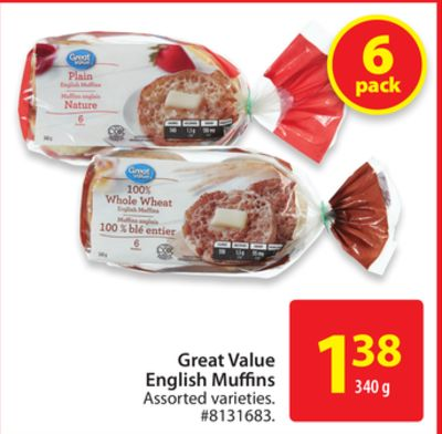 Great Value English Muffins