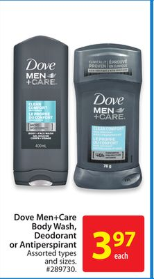 Dove Men+care Body Wash - Deodorant or Antiperspirant