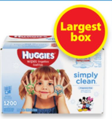 Huggies 6x Wipes