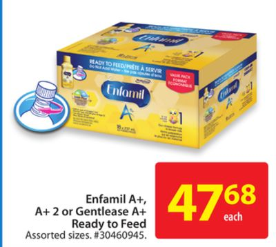 Enfamil A+ - A+ 2 or Gentlease A+ready To Feed