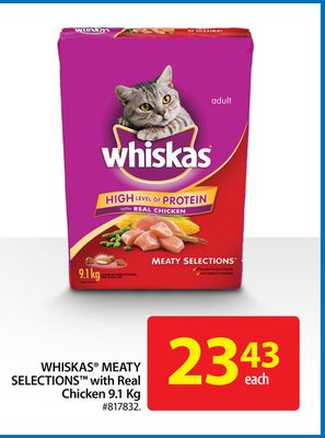 Whiskas Meaty Selections With Real Chicken 9.1 Kg