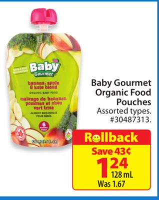 Baby Gourmet Organic Food Pouches