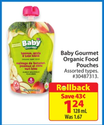 Baby Gourmet Organic Food Pouches On Sale Salewhale Ca