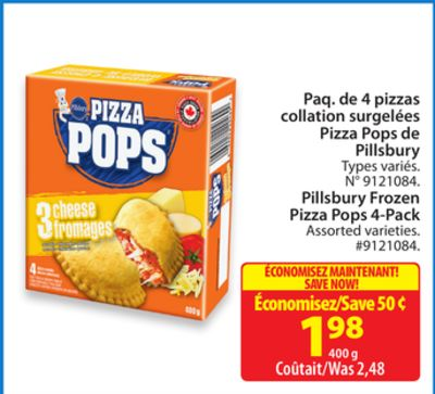 Pillsbury Frozen Pizza Pops 4-pack