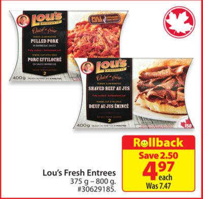 Lou's Fresh Entrees