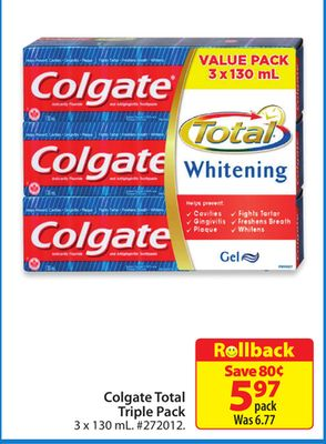 Colgate Total Triple Pack