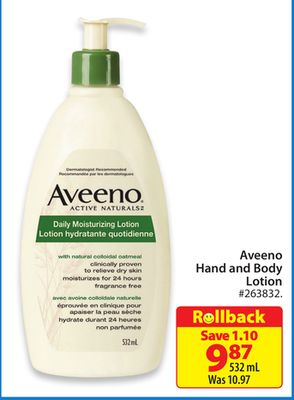 Aveeno Hand and Body Lotion