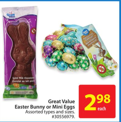 Great Value Easter Bunny or Mini Eggs