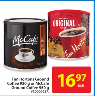 Tim Hortons Ground Coffee 930 g or Mccafé Ground Coffee 950 g
