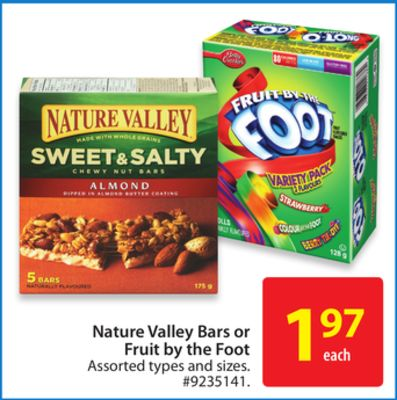Nature Valley Bars or Fruit By The Foot