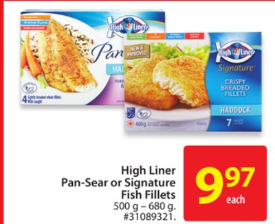 High Liner Pan-sear or Signature Fish Fillets