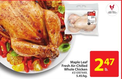 Maple Leaf Fresh Air-chilled Whole Chicken