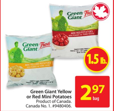 Green Giant Yellow or Red Mini Potatoes