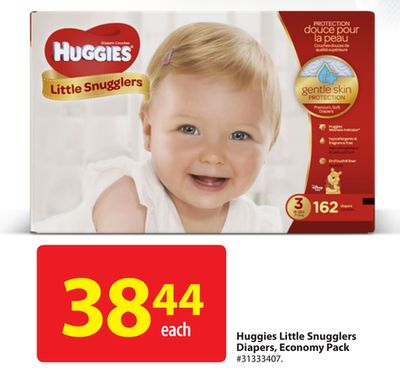 Huggies Little Snugglers Diapers - Economy Pack
