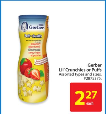 Nestle Gerber Lil' Crunchies or Puffs