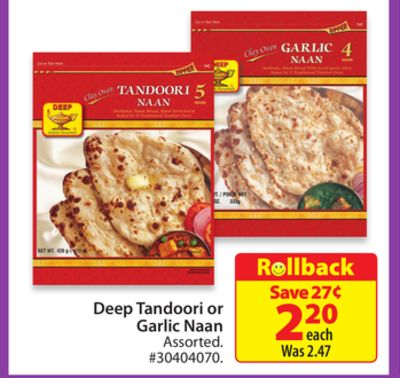 Deep Tandoori or Garlic Naan