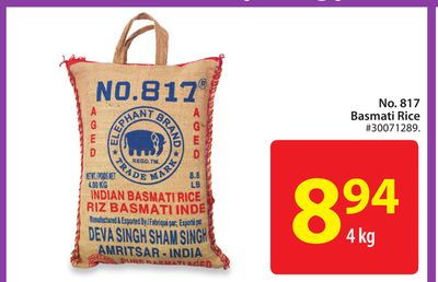 No. 817 Basmati Rice