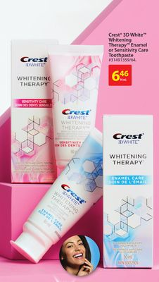 Crest 3D White Whitening Therapy Enamel or Sensitivity Care Toothpaste