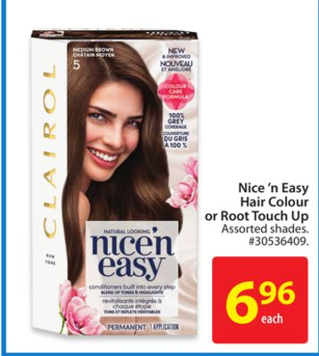 Nice 'N Easy Hair Colour or Root Touch Up