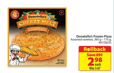 Donatello's Frozen Pizza