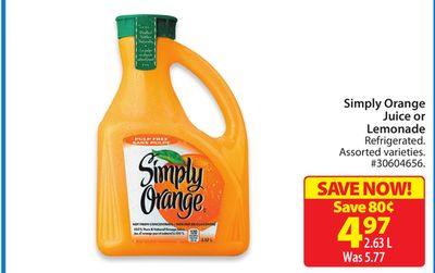 Simply Orange Juice or Lemonade