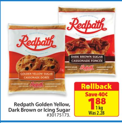 Redpath Golden Yellow - Dark Brown or Icing Sugar