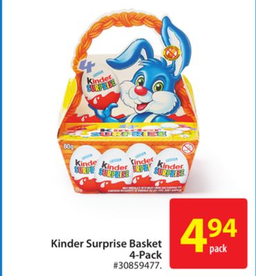 Kinder Surprise Basket 4-pack