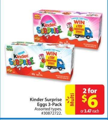 Kinder Surprise Eggs 3-pack
