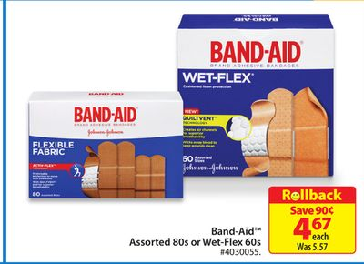 Band-aid Assorted 80s or Wet-flex 60s