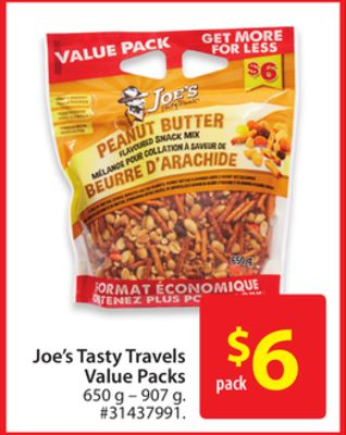 Joe's Tasty Travels Value Packs