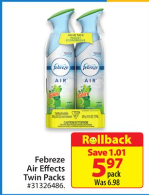 Febreze Air Effects Twin Packs