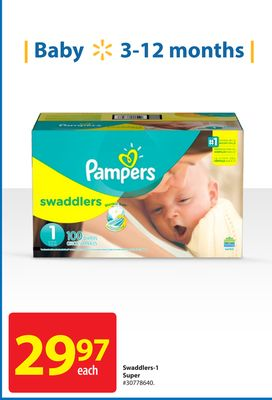 Pampers Swaddlers-1 Super