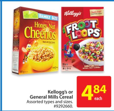 Kellogg's or General Mills Cereal