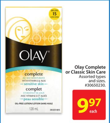 Olay Complete or Classic Skin Care