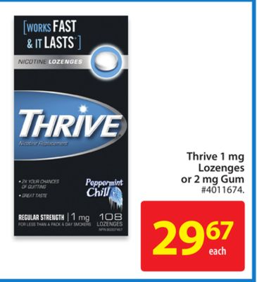 Thrive 1 Mg Lozenges or 2 Mg Gum