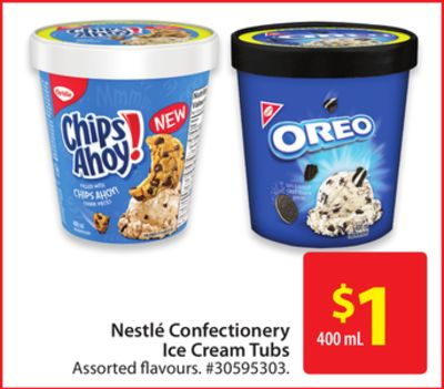 Nestlé Confectionery Ice Cream Tubs