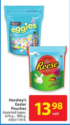 Hershey's Easter Pouches