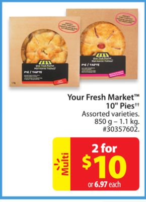 Your Fresh Market 10'' Pies