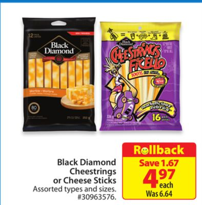 Black Diamond Cheestrings or Cheese Sticks
