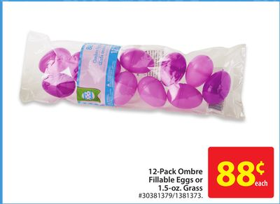 12-pack Ombre Fillable Eggs or 1.5-oz. Grass