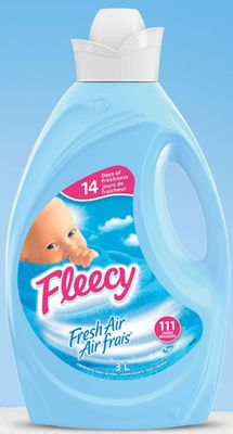 Fleecy Liquid Fabric Softener - Fresh Air - 3 L