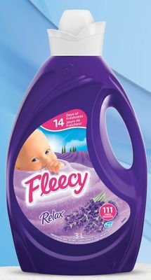 Fleecy Liquid Fabric Softener - Relax - 3 L