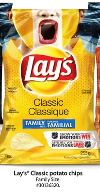Lay's Classic Potato Chips Family Size
