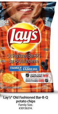Lay's Old Fashioned Bar-b-q Potato Chips Family Size